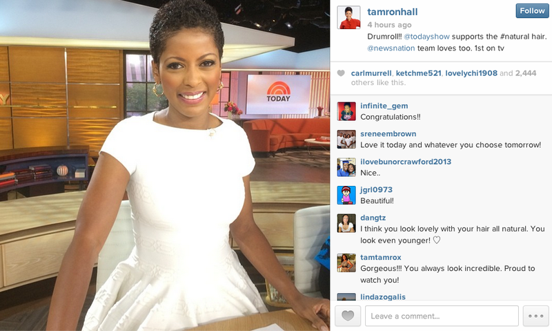 Tamron Hall Debuts Her Natural Hair on Today