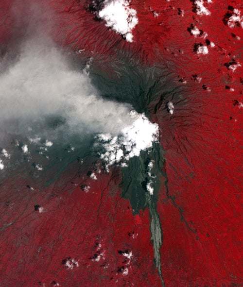 Mount Merapi Eruption as Seen from Space