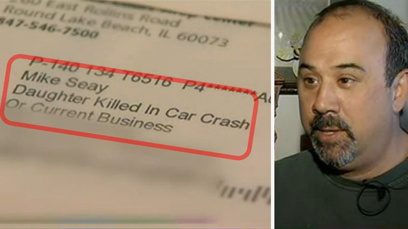 How Does OfficeMax Know This Man's Daughter Was Killed In A Car Crash?