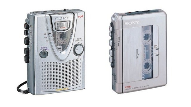 Sony's Putting Its Handheld Cassette Recorders In That Old Junk Drawer In the Sky