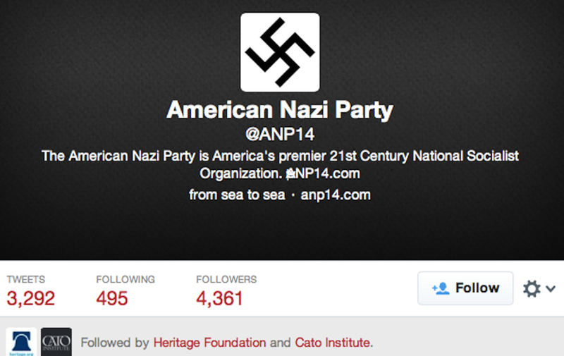 """Oops,"" Say Think Tanks Following the American Nazi Party"