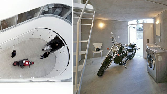 Apartments Designed for Motorcycles Are a Biker's Paradise