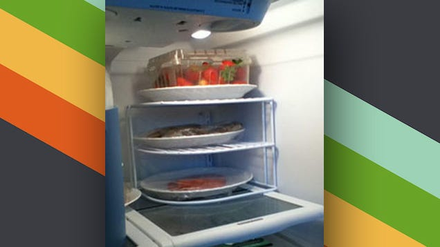 ​Use a Plate Organizer in the Refrigerator to Add Extra Shelves