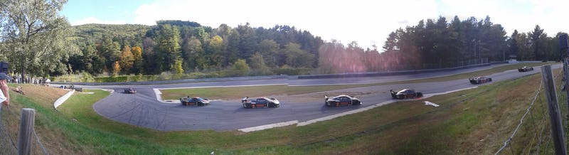 Crazy Cool Shots of Grand-Am Rolex Cars Navigating the Chicane at Lime Rock Park