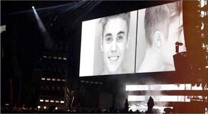 "Beyoncé Shows Bieber's Mugshot On Stage: ""Even the Greatest Can Fall"""
