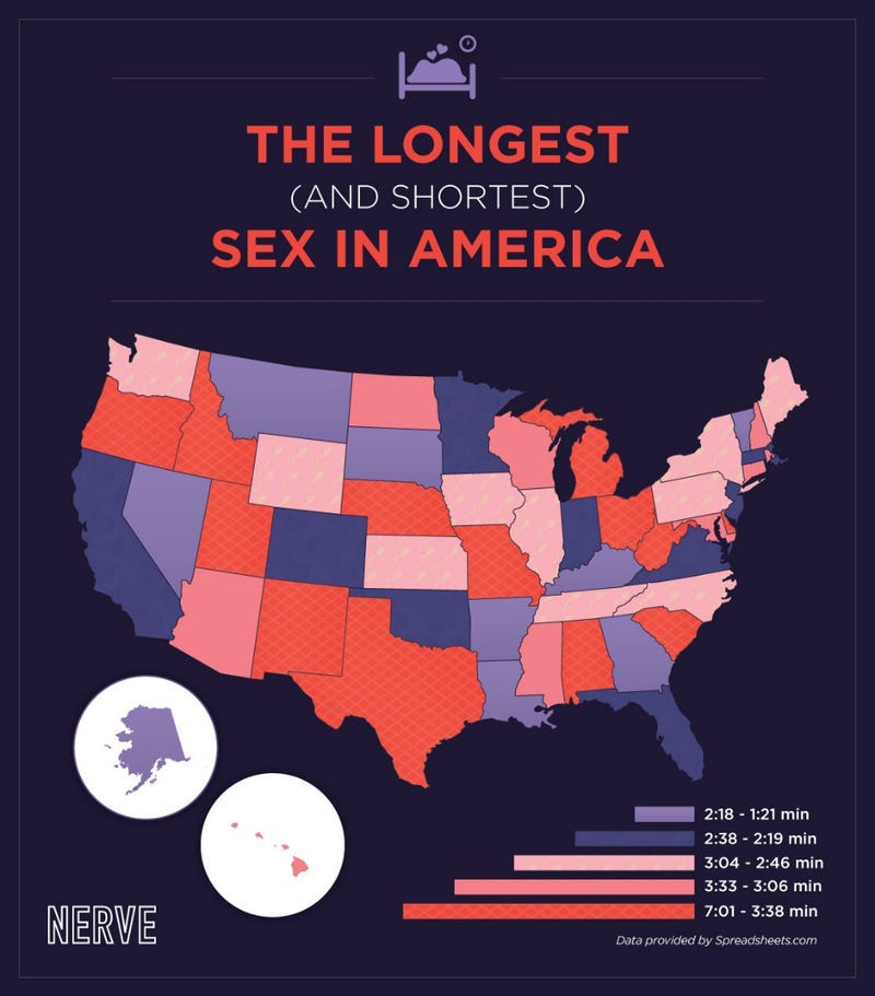 Does Your State Specialize in Marathon Sex Sessions?
