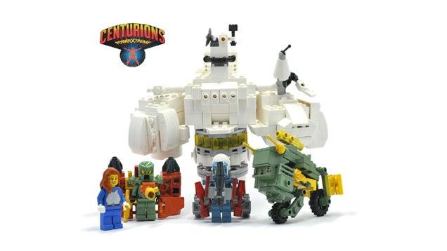 Classic 80s Cartoon Centurions As LEGO Minifigs
