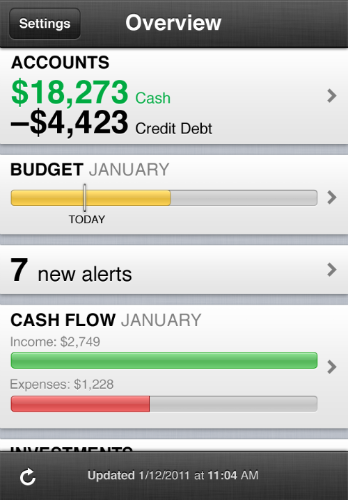 Mint.com's Money Management iPhone App Now Allows Transaction Searches, Account Adding
