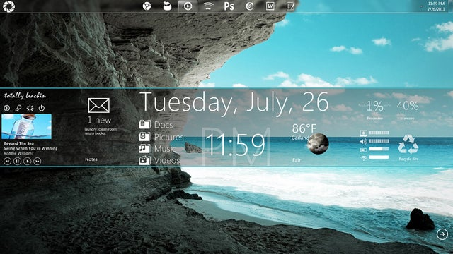 The Island Paradise Desktop