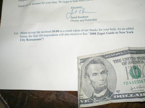 New York Observer Bribes Readers