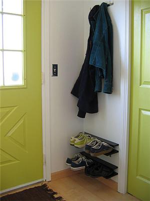 Make a floating shoe rack