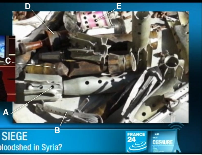 All the Weapons Used by the Syrian Regime Against Homs