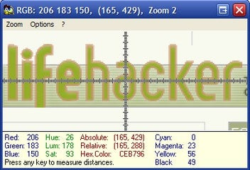 MouseZoom Enlarges Text and Shows Color Values