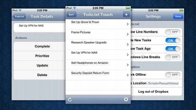 Todo.txt Touch Brings Its Simple, Text-Based To Dos to iOS