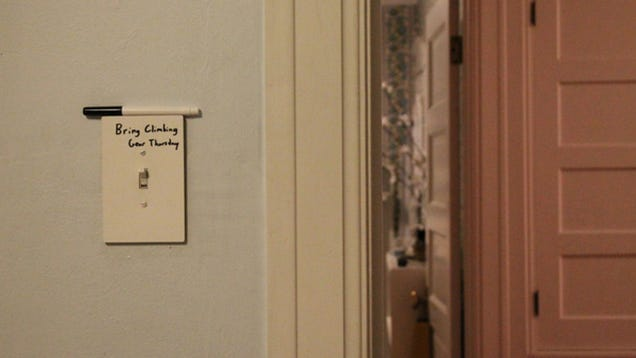 A Light Switch Whiteboard Is A Clever Post-It Alternative