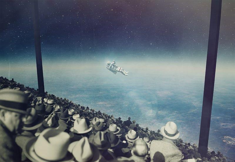 When spacewalking becomes a spectator sport