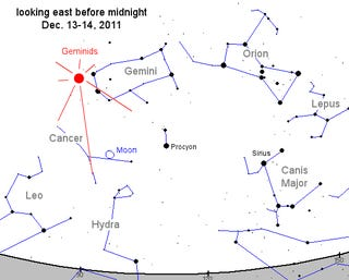 How to catch tonight's Geminid meteor shower