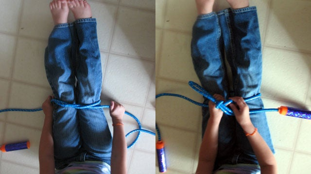 Teach Your Kid How to Tie Shoelaces with a Jump Rope