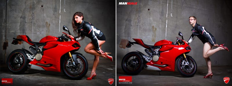 Ducati Dealer's Photo Shoot Puts Men In Sexy Motorcycle Poses