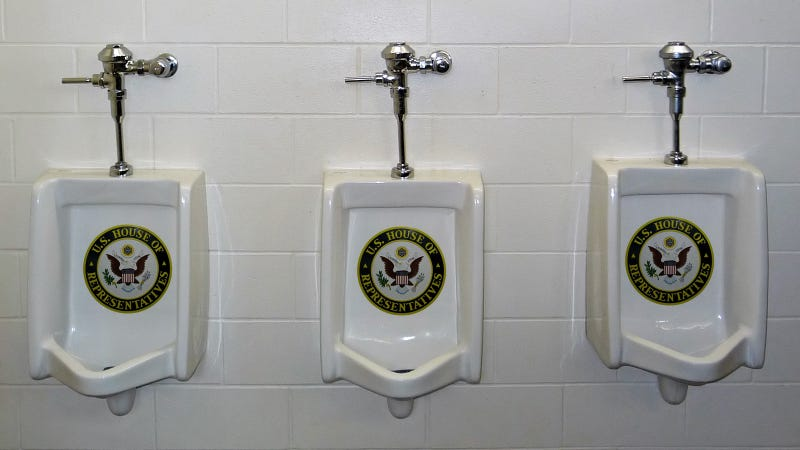 House of Representatives' Urinal Explosion Drenches the Press