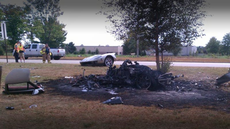 How did a Ford GT driver survive this fiery crash?