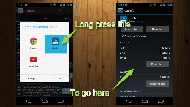 Long Press Apps in Android's App Picker to Jump to App Info