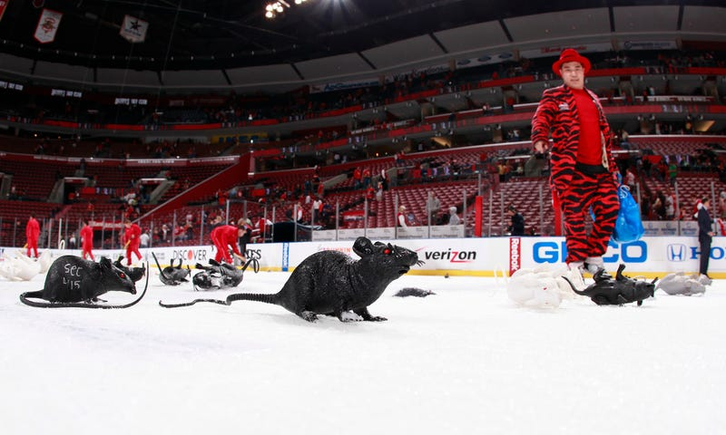 Panthers Somehow Blame Devils Fans For Ruining Rat-Throwing Tradition