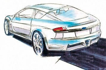 First Sketch Of The Rear-Wheel Drive Subaru Impreza Coupe?