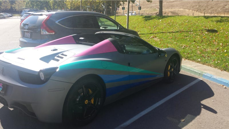 The Silver Lining Of A Badly Painted Ferrari