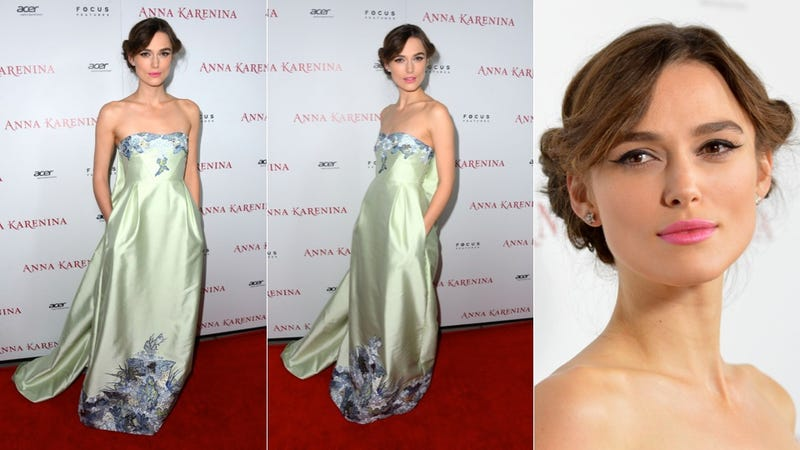 Keira Knightley Picks Pink Lipstick and Pockets for the Anna Karenina Premiere