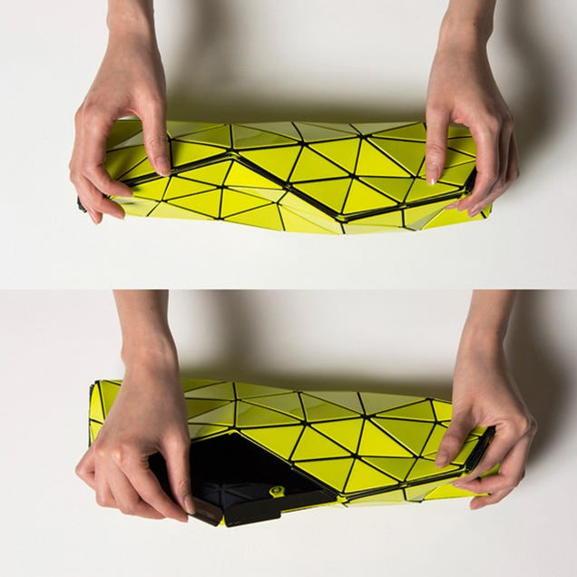 This PVC Pouch Folds Up Like Origami To Protect Precious Things