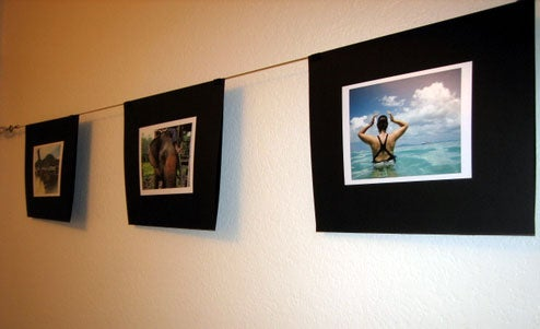 Build Your Own Wire Photo Wall