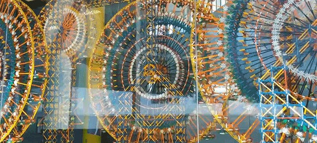 A Giant Kinetic Installation Made From 48,000 Pieces of K'NEX