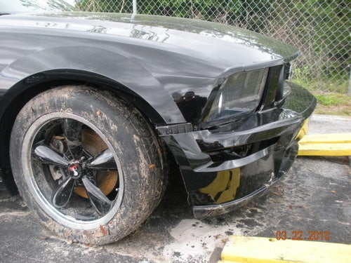 Mustang Totaled By Brandon Ford