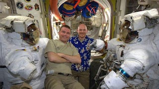 It's Casual Friday on the International Space Station