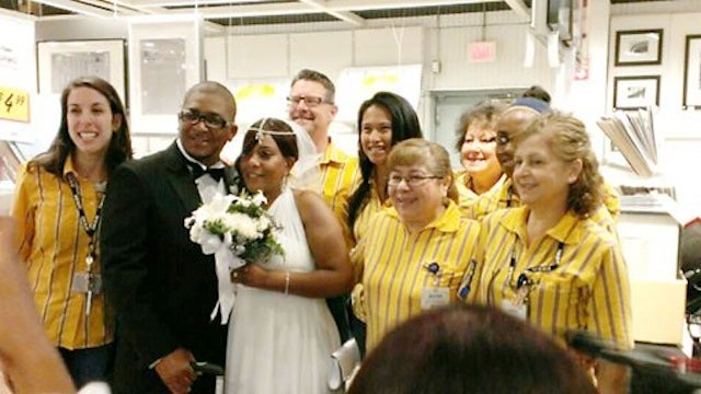 Couple Gets Married Inside New Jersey IKEA Store