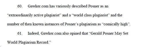 Superplagiarist Gerald Posner Sued by Plagiarism Victim