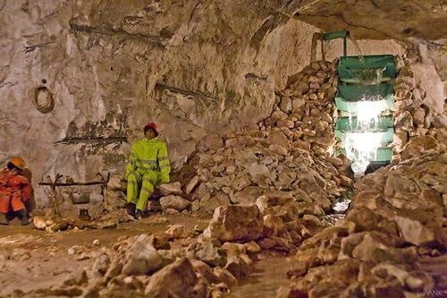 Scenes from an underground Russian dinosaur mine