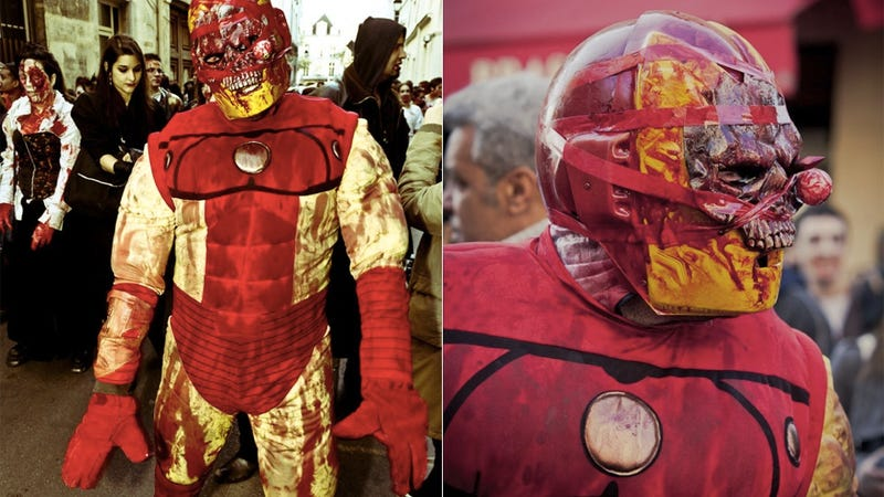 Iron Man Became a Zombie for Halloween