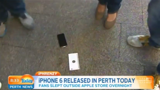 First iPhone 6 Buyer Does an Accidental Drop-Test on TV