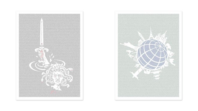These Graphic Prints Contain The Text of Your Favorite Books
