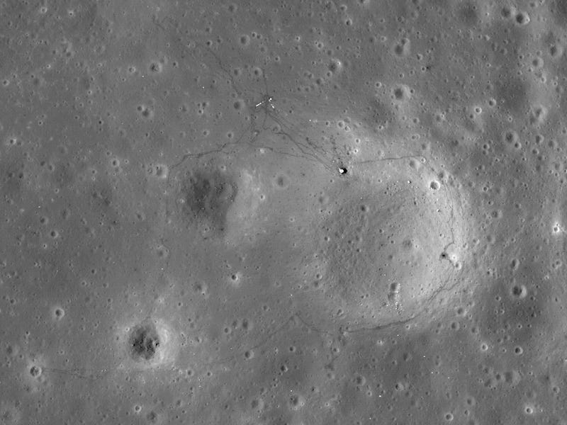 New Moon Landing Sites Photos Are So Sharp They Show Detailed Rover Tire Marks