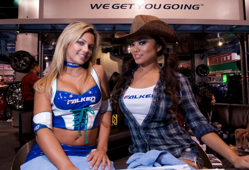Conspicuously Modified: The Booth Babes Of SEMA 2009