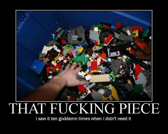 Where's That F*cking Lego Piece?