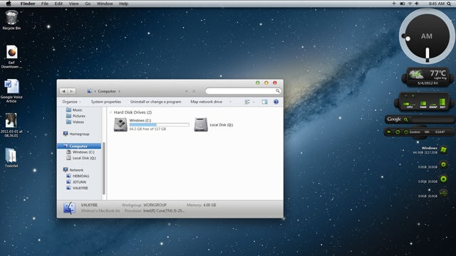 Mountain Lion Skin Pack Makes Your Windows Desktop Look Like OS X