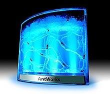 High-Tech Neon Blue Ant Farm