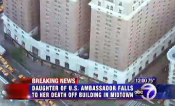 Ambassador's Daughter Falls to Her Death From Manhattan Apartment