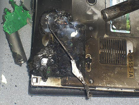 Another Flaming Dell Laptop