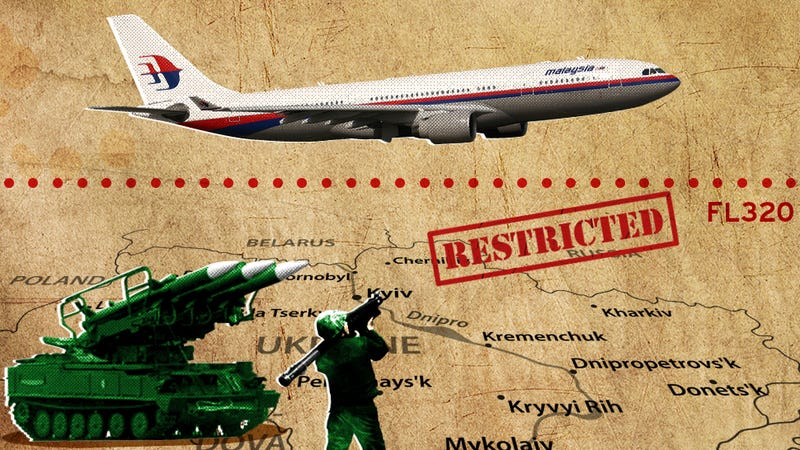 MH17 Was Barely Above Restricted Airspace When It Was Shot Down