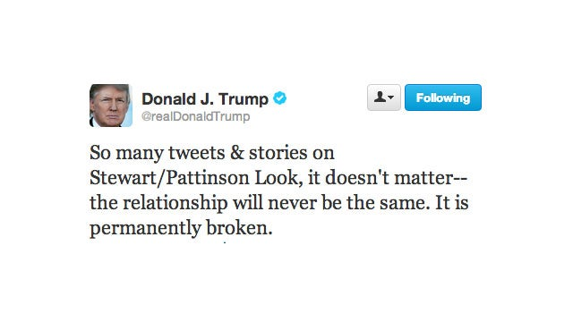Donald Trump's Opinion on the Status of Robsten Is Essential to the World